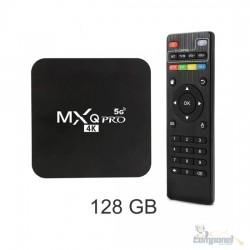 Tv Box 4K Mxq Pro 5G K4 Android 10.1 8Gb 128Gb Wi-Fi 2,4/5G
